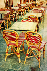 old-fashioned Cafe terrace