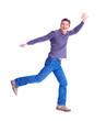 Happy running man.
