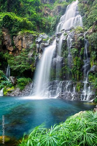 Foto op Canvas Watervallen Cascade du bassin des Aigrettes - Ile de La Réunion