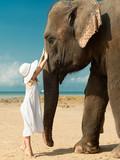 dívka a elefant