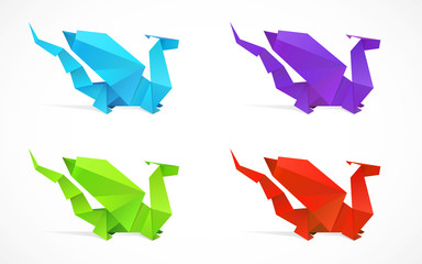 Origami dragon set