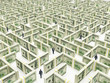 Business peoples in Financial Maze Labyrinth