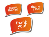 Thank you - grateful color bubbles design