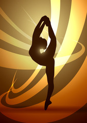 silhouettes gymnastics dancer