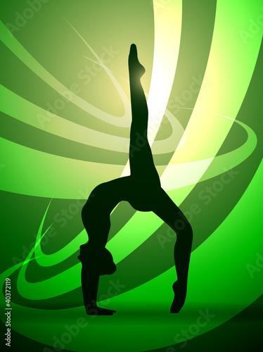 silhouettes gymnastics