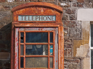 Derelict phone booth UK