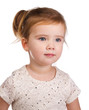 Portrait of cute little girl  looking away