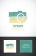 Conceptual travel photography icon , vector design