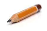 Regular pencil over white background poster