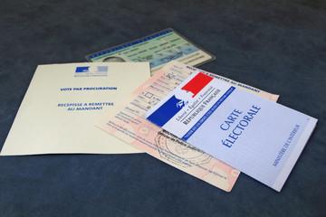 Imprimé de vote par procuration
