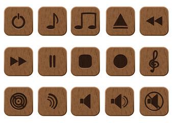15 music icons set.