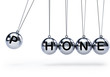Newtons cradle with five balls - phone