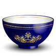 Vector illustration of blue bowl