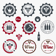 Quality Wine Labels with retro vintage styled design