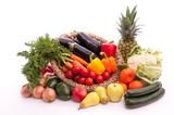 Bunte Mischung Obst und Gemüse