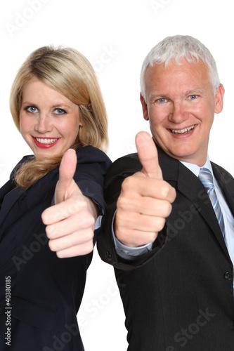 zufriedene Geschäftspartner