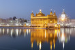 Golden Temple illuminated at night