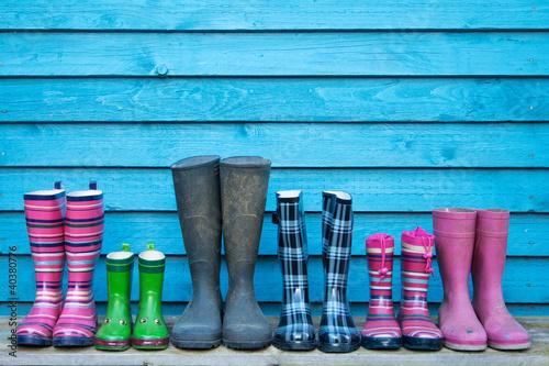 Leinwanddruck Bild rubber boots
