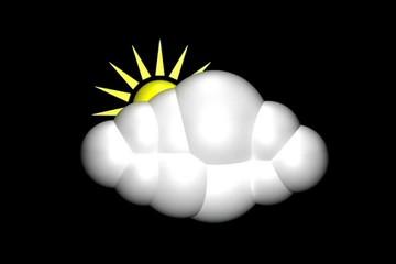 Cloud with rain and sun