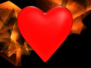 Red heart on an abstract background