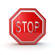 stop symbol 3d