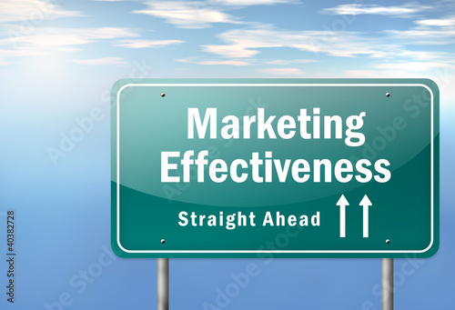 "Highway Signpost ""Marketing Effectiveness"""