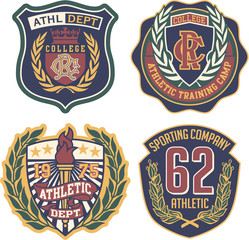 Athletic department vector badges