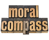 moral compass - ethics concept poster