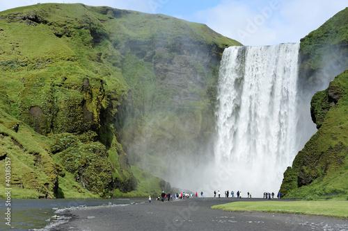 Fototapeten,island,wasserfall,fluß,natur