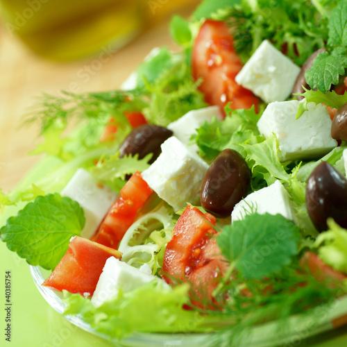 Salat, Feta, Oliven