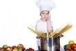 Mhmm, was mach ich bloß, Kind Koch überlegt