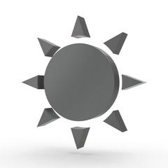 3d icon Sonne schwarz