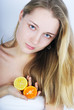 beautiful girl with citrus