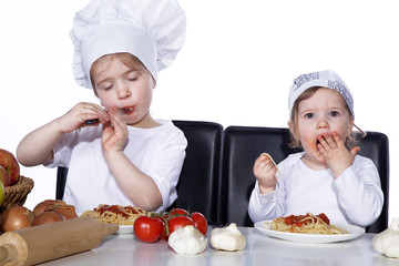 Hmmm, lecker schmecken die Spaghetti