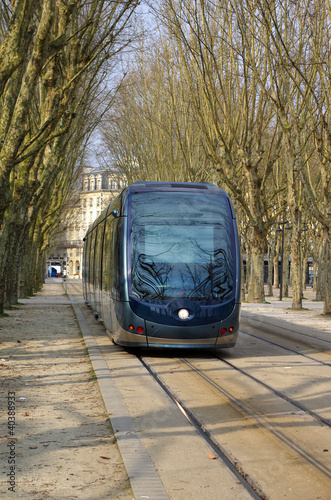 Modern cable car in Bordeaux
