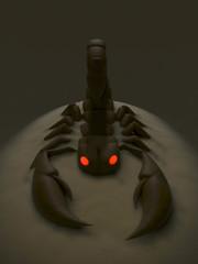 Skorpion Sandhaufen Düster