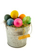 Sinc bucket colorful easter eggs