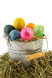 Sinc bucket colorful easter eggs
