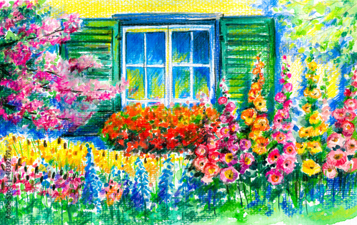 Window in garden