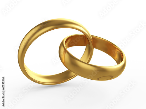 Wedding gold rings