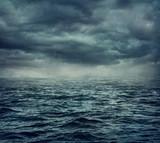 Fototapety Rain over the stormy sea