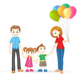 3d Happy Family in Vector