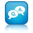 Question & Ask blue button