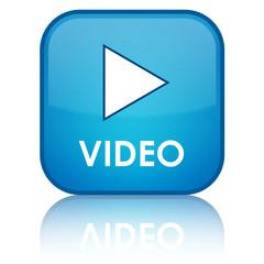 """VIDEO"" blue button"