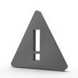 3d Icon Ausrufezeichen schwarz