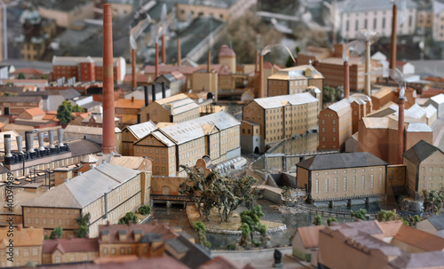 Industrial town miniature model