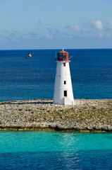 View of lighthouse in Nassau, Bahamas