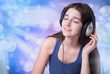 The girl in the headphones
