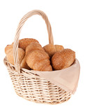a basket of rolls