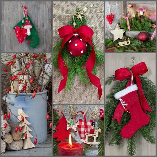 Weihnachtszeit - Collage mit mehreren Motiven